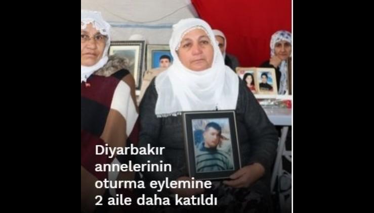 Diyarbakır annelerinin oturma eylemine 2 aile daha katıldı