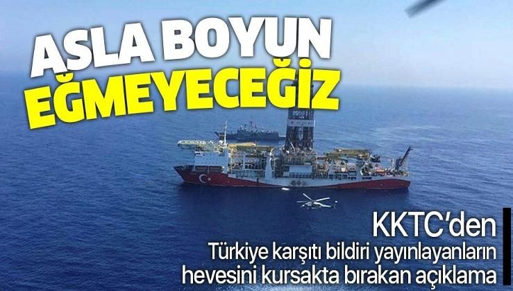 KKTC'den net Doğu Akdeniz mesajı: Asla boyun eğmeyeceğiz!