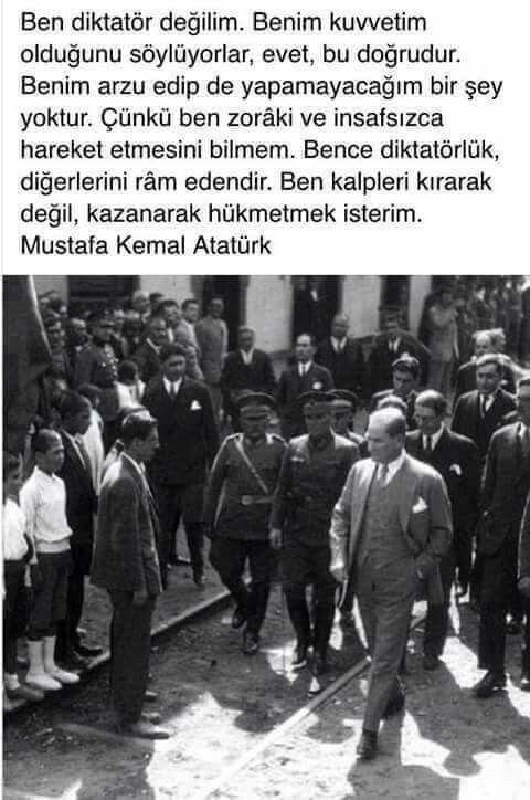 """""""Ben kalpleri kırarak değil kazanarak hükmetmek isterim"""" GMK Atatürk"""