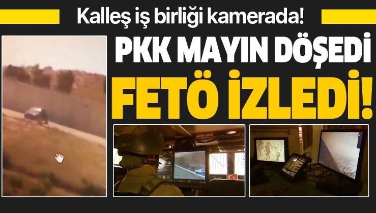 Kalleşlerin iş birliği kamerada: PKK mayın döşedi FETÖ izledi