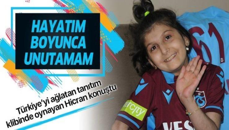 Trabzonspor'un tanıtım filminde oynayan Hicran Yıldız: Bunu hayatım boyunca unutamam