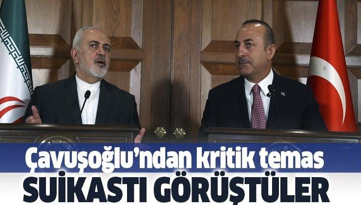 Bakan Çavuşoğlu, İran Dışişleri Bakanı Zarif ile görüştü.