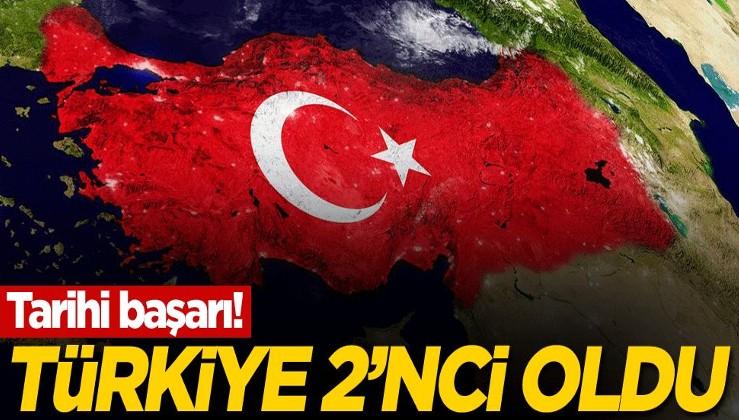 Tarihi başarı! Türkiye 2'nci oldu