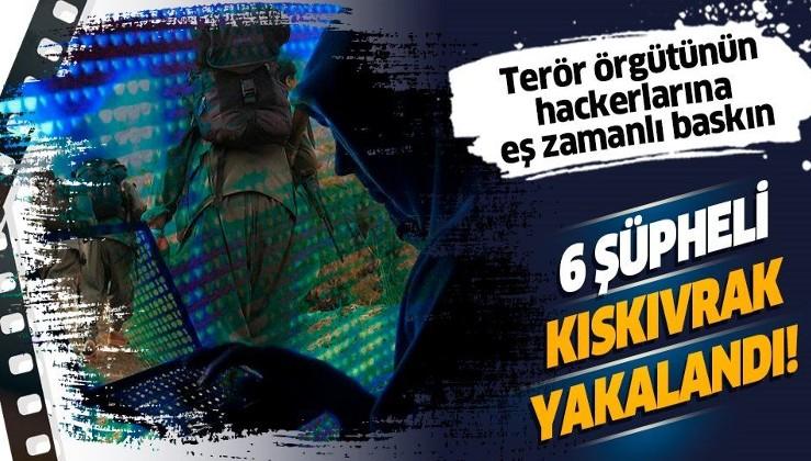 SON DAKİKA: Terör örgütü PKK/KCK'nın bilgisayar korsanlarına operasyon: 6 şüpheli yakalandı