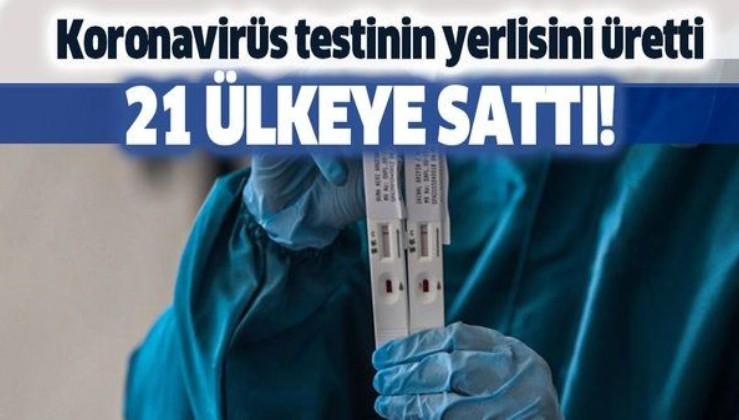 Son dakika: Koronavirüs testinin yerlisini üretti! 21 ülkeye sattı