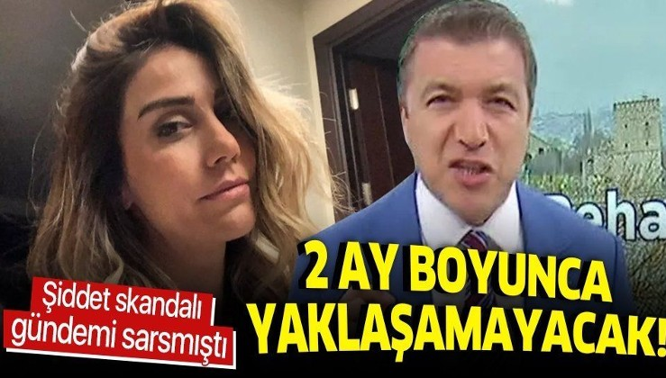 İsmail Küçükkaya, eski eşi Eda Demirci'ye şiddet uygulamıştı... Mahkemeden 2 aylık uzaklaştırma kararı