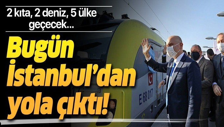 Türkiye'den Çin'e giden ilk ihracat treni uğurlandı