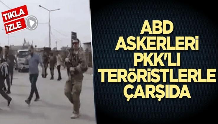 ABD askerleri PKK'lı teröristlerle çarşıda