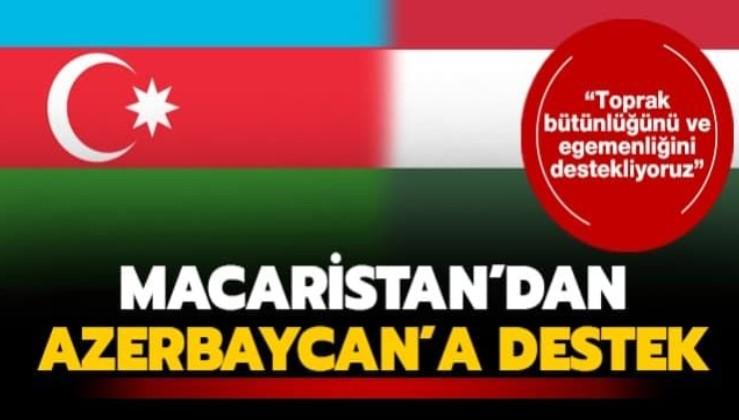 Macaristan'dan Türkiye ve Azerbaycan'a destek!