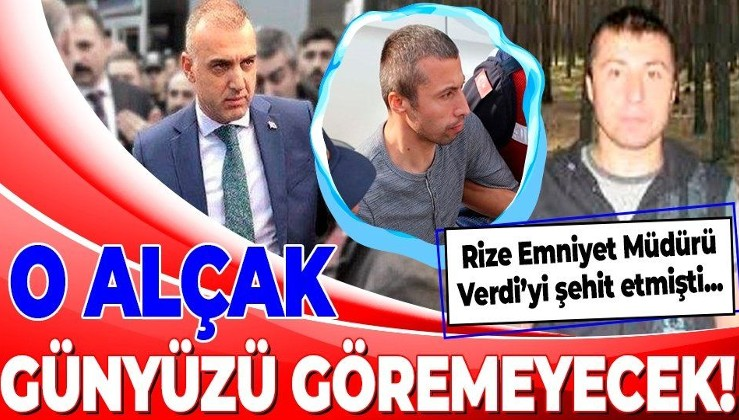Son dakika: Rize Emniyet Müdürü Altuğ Verdi'yi şehit eden İsmail Hakkı Sarıcaoğlu'na ağırlaştırılmış müebbet hapis cezası