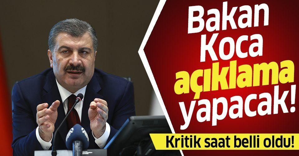 Gözler Sağlık Bakanı Fahrettin Koca'nın yeni açıklamasında...