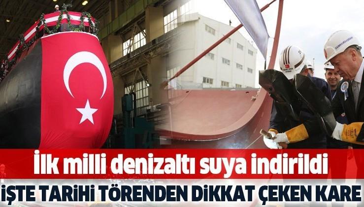İlk milli denizaltı Piri Reis suya indirildi! Türkiye için tarihi gün