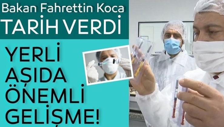 Son dakika... Bakan Koca'dan yerli aşı açıklaması!