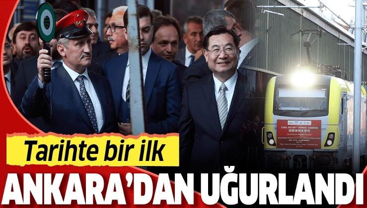 Son dakika: China Railway Express, Ankara Garı'ndan törenle uğurlandı.