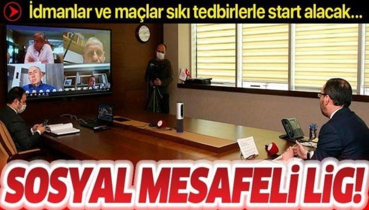Sosyal mesafeli lig! Süper Lig'de idmanlar ve maçlar sıkı tedbirlerle başlayacak...