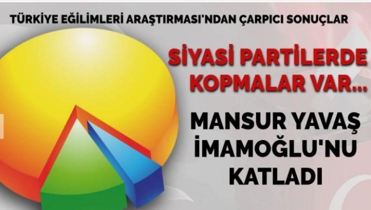 'Siyasi partilerde kopmalar var… Mansur Yavaş, İmamoğlu'nu katladı'
