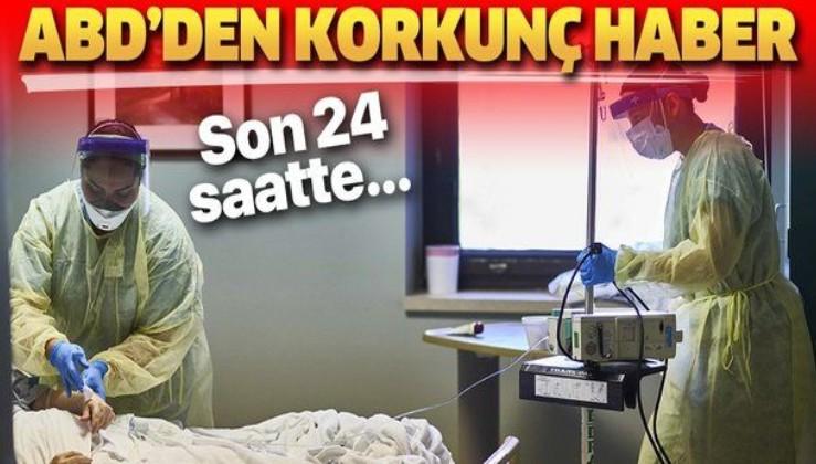 ABD'den korkunç haber! Son 24 saatte 3 bin 112 kişi koronavirüsten hayatını kaybetti