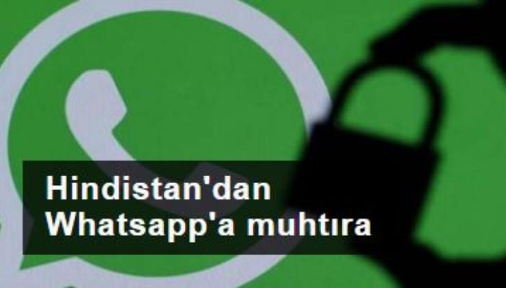 Hindistan'dan Whatsapp'a 'yeni gizlilik sözleşmesini iptal et' muhtırası