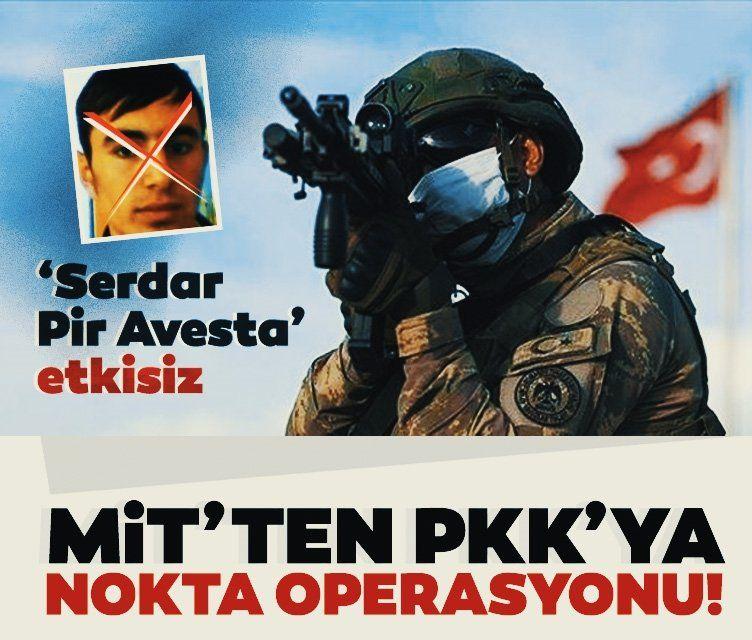 """MİT biletini kesti! PKK/KCK'nın sözde Hakurk sorumlusu """"Serdar Pir Avesta"""" etkisiz hale getirildi"""