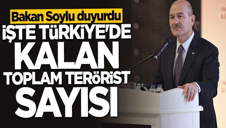 Bakan Soylu duyurdu! İşte Türkiye'de kalan toplam terörist sayısı