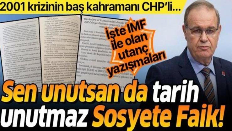 IMF ile utanç yazışmaları!