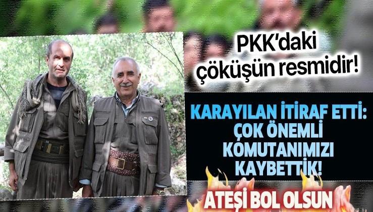 """PKK terör örgütü elebaşı Karayılan'dan itiraf! """"Çok önemli komutanımızı kaybettik"""""""