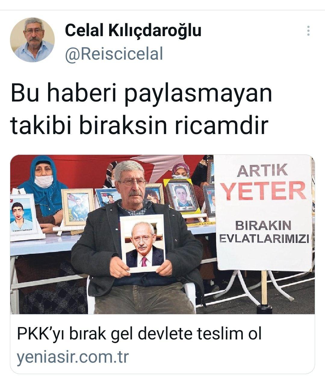 Kılıçdaroğlu'nun kardeşi HDP binası önünde nöbete başladı: Kemal Abi PKK'yı bırak devlete teslim ol