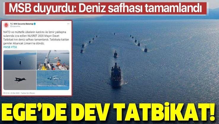 Son dakika: Türkiye'nin ev sahipliğindeki 'Nusret-2020 Davet Tatbikatı'nın deniz safhası tamamlandı