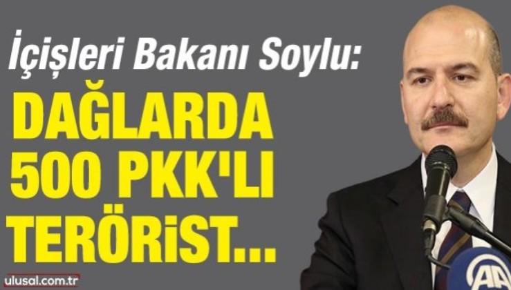 Soylu: Dağlarda 500 PKK'lı terörist ya var ya yok