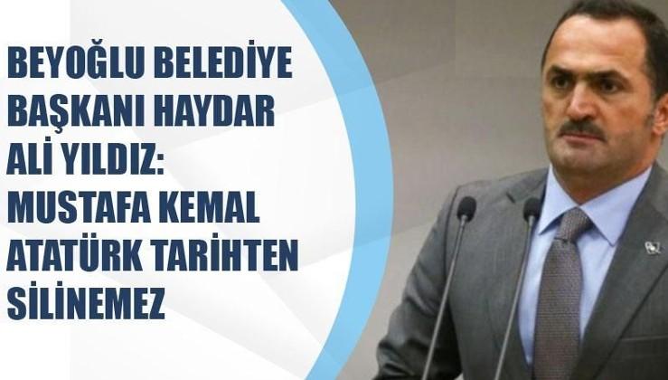 Beyoğlu Belediye Başkanı Haydar Ali Yıldız'dan Atatürk sayfalarının yırtılmasına tepki