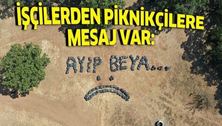 Lüleburgaz'da temizlik işçilerinden piknikçilere çöp tepkisi: Ayıp beya...
