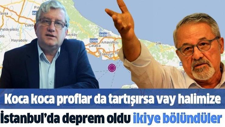 Marmara Denizi'nde meydana gelen 3.2 büyüklüğündeki deprem profesörler arasında tartışma çıkardı