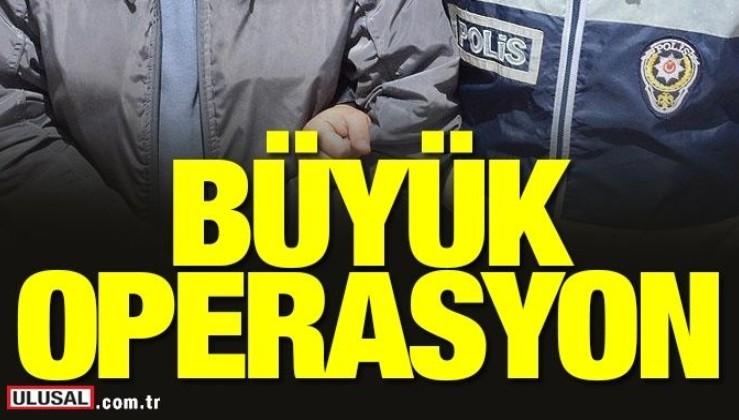 30 ilde 75 adrese FETÖ operasyonu: 44'ü aktif 64 polise gözaltı