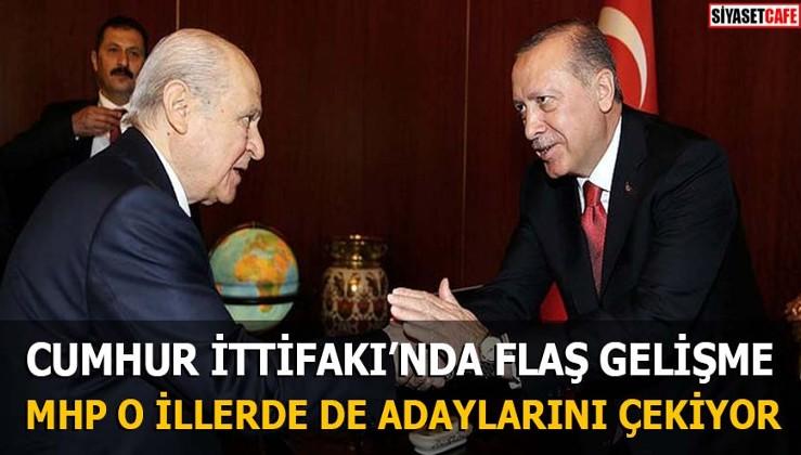 Cumhur İttifakı'nda flaş gelişme MHP o illerde de adaylarını çekiyor