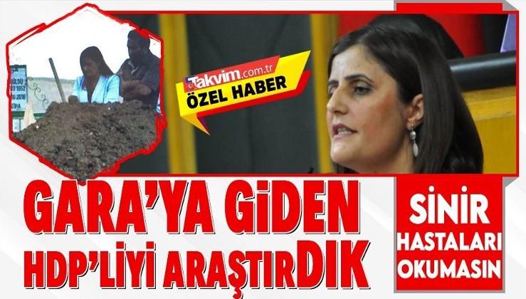 Gara'ya teröristlerin ziyaretine giden HDP'li milletvekili Dirayet Dilan Taşdemir'in ihanetleri bitmek bilmiyor