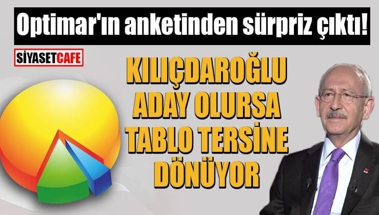 Optimar'ın anketinden sürpriz çıktı! Kılıçdaroğlu aday olursa tablo tersine dönüyor