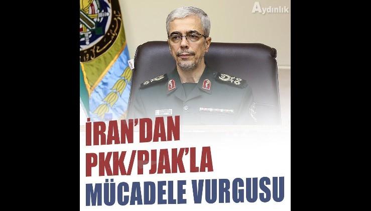 İran Genelkurmay Başkanından, terör örgütü PKK/PJAK'la mücadele vurgusu