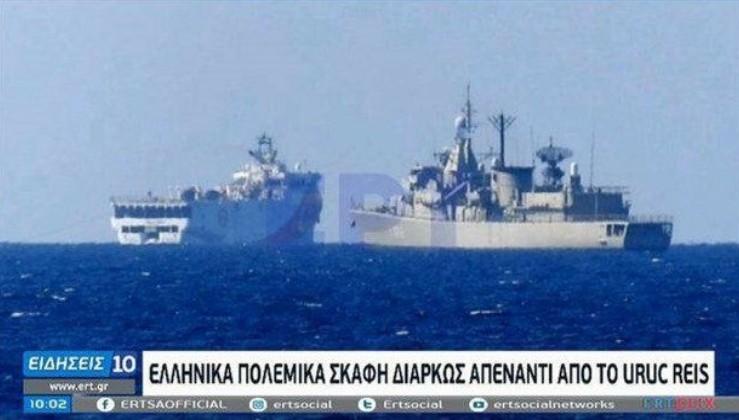 SON DAKİKA: Yunan medyası montaj fotoğraf ile algı yaptı: Oruç Reis'i kovduk...