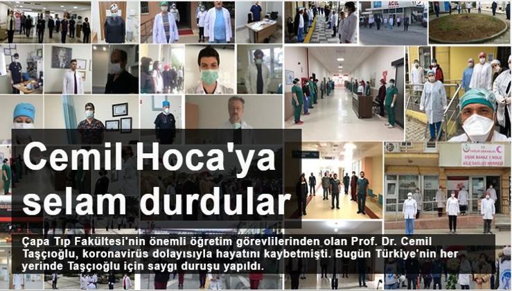 Türkiye'nin dört bir yanındaki hekimlerden hayatını kaybeden Prof. Cemil Taşçıoğlu için saygı duruşu