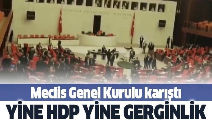 Meclis'te HDP'liler PKK'ya af talep edince MHP'liler ayaklandı
