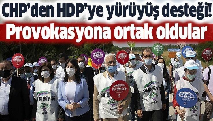 CHP'den HDP'ye yürüyüş desteği! Kışkırtmaya ortak oldular