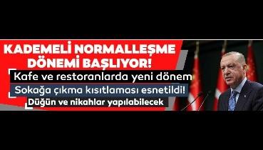 Cumhurbaşkanı Erdoğan açıkladı: 1 Haziran normalleşme adımları neler?