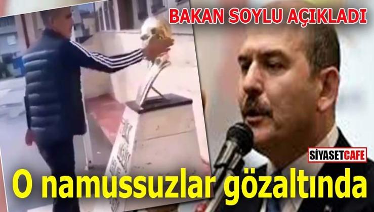 Atatürk düşmanını Atatürk'ün heykeli önünde selam durdurdular!