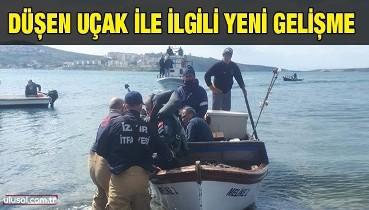 İzmir'de düşen uçak ile ilgili yeni gelişme