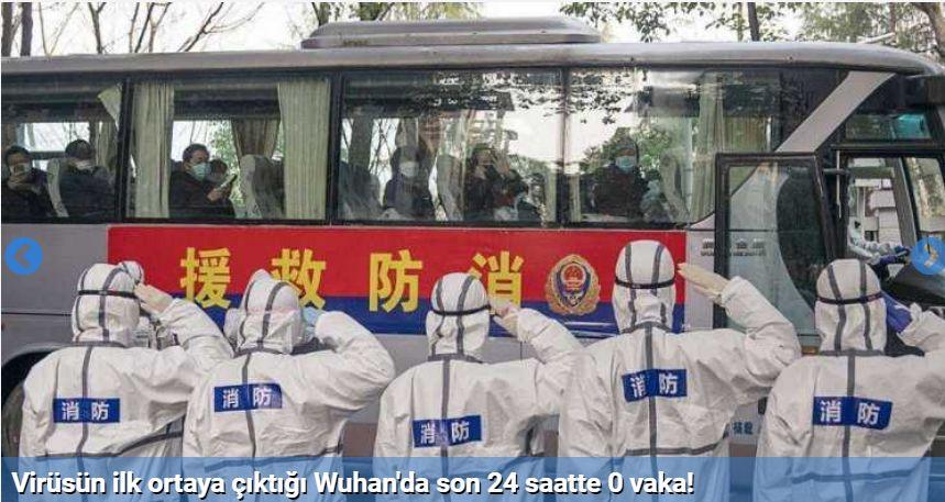 Virüsün ilk ortaya çıktığı Wuhan'da son 24 saatte 0 vaka!