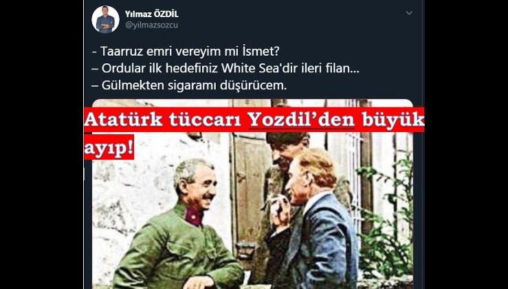 Geçimini Atatürk'ü magazinleştirmekten sağlayan Yozdil'den büyük ayıp!