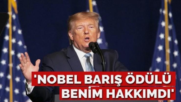 Trump: Nobel Barış Ödülü benim hakkımdı