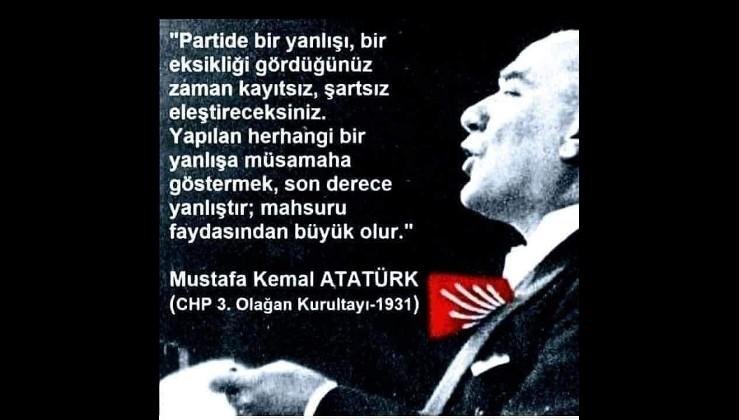 """Atatürk diyor ki: """"Yanlışa müsamaha göstermek..."""""""