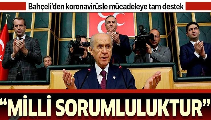 Son dakika: MHP Lideri Devlet Bahçeli: Devlet-millet dayanışmasına destek vermek milli sorumluluktur