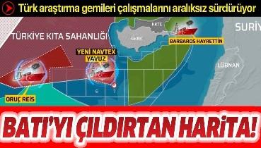 Akdeniz'de Batı'yı çıldırtan harita! Türk araştırma gemileri çalışmalarını aralıksız sürdürüyor